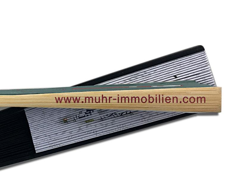 Fächer Druck Bambus