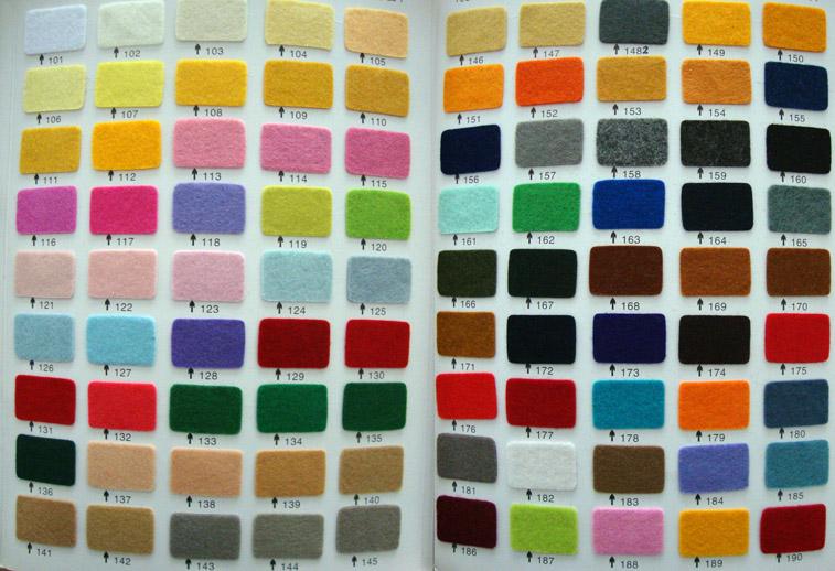 Übersicht Farben Kunstfilz
