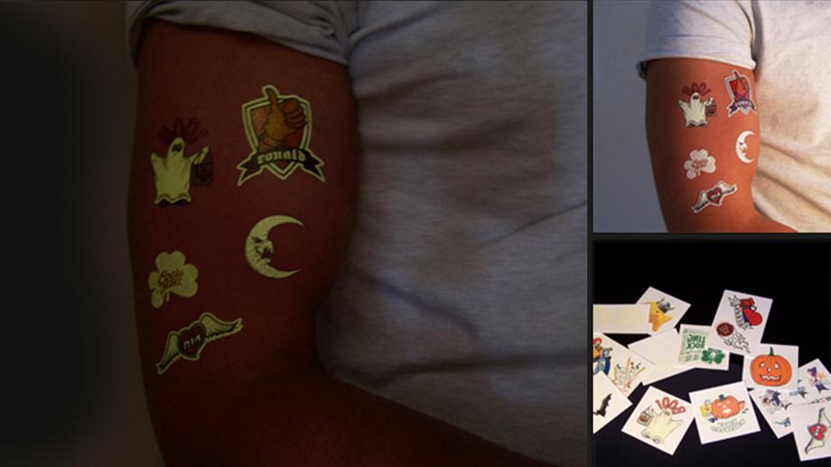 leucht tattoos tps produktionsagentur f r werbeartikel. Black Bedroom Furniture Sets. Home Design Ideas