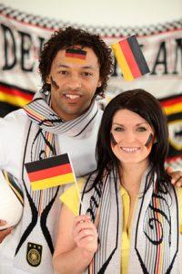 Klebetattoo Nationalflagge Deutschland