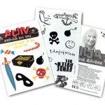 werbe tattoo postkarte A5 A6