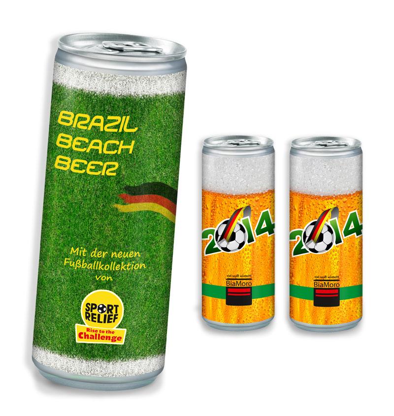 Werbegetränk Bier mit eigenem label