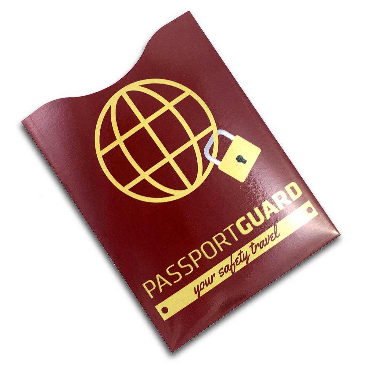 Reisepass RFID Schutzhülle mit Logo