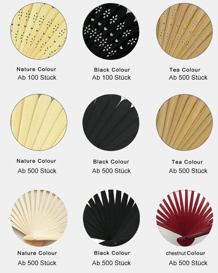 Fächer Farben Holz