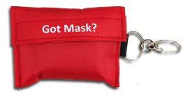 Mundschutzmaske mit Schlüsselanhänger