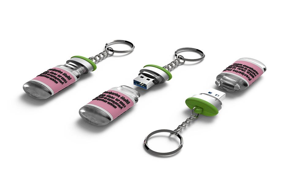 USB Vinyl Schlüsselanhänger